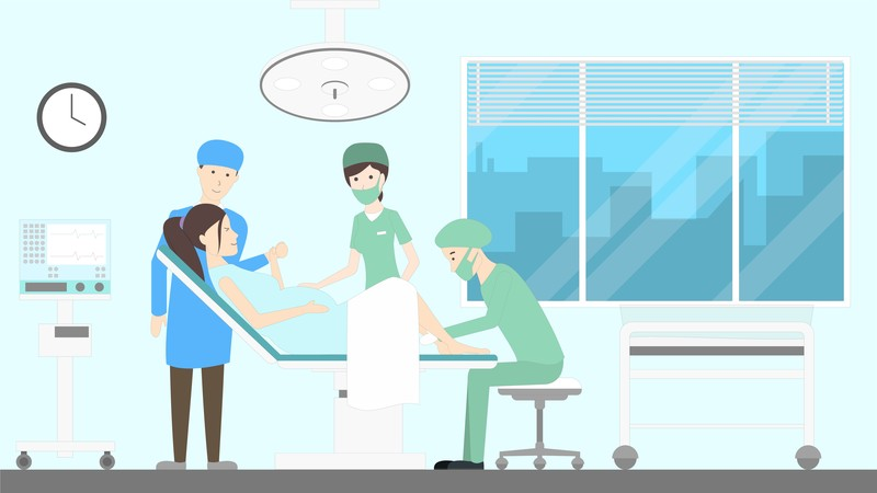 accouchement à l'hôpital